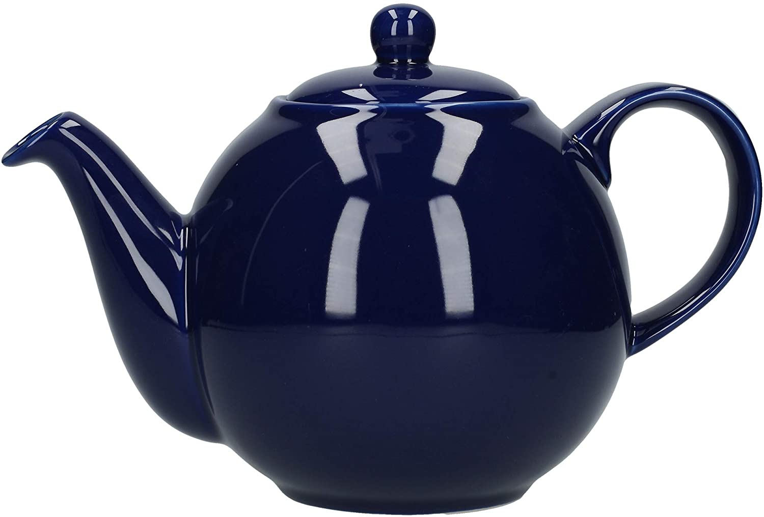 London Pottery Globe Teapot, Cobalt Blue, 4 Cup, Closed Box