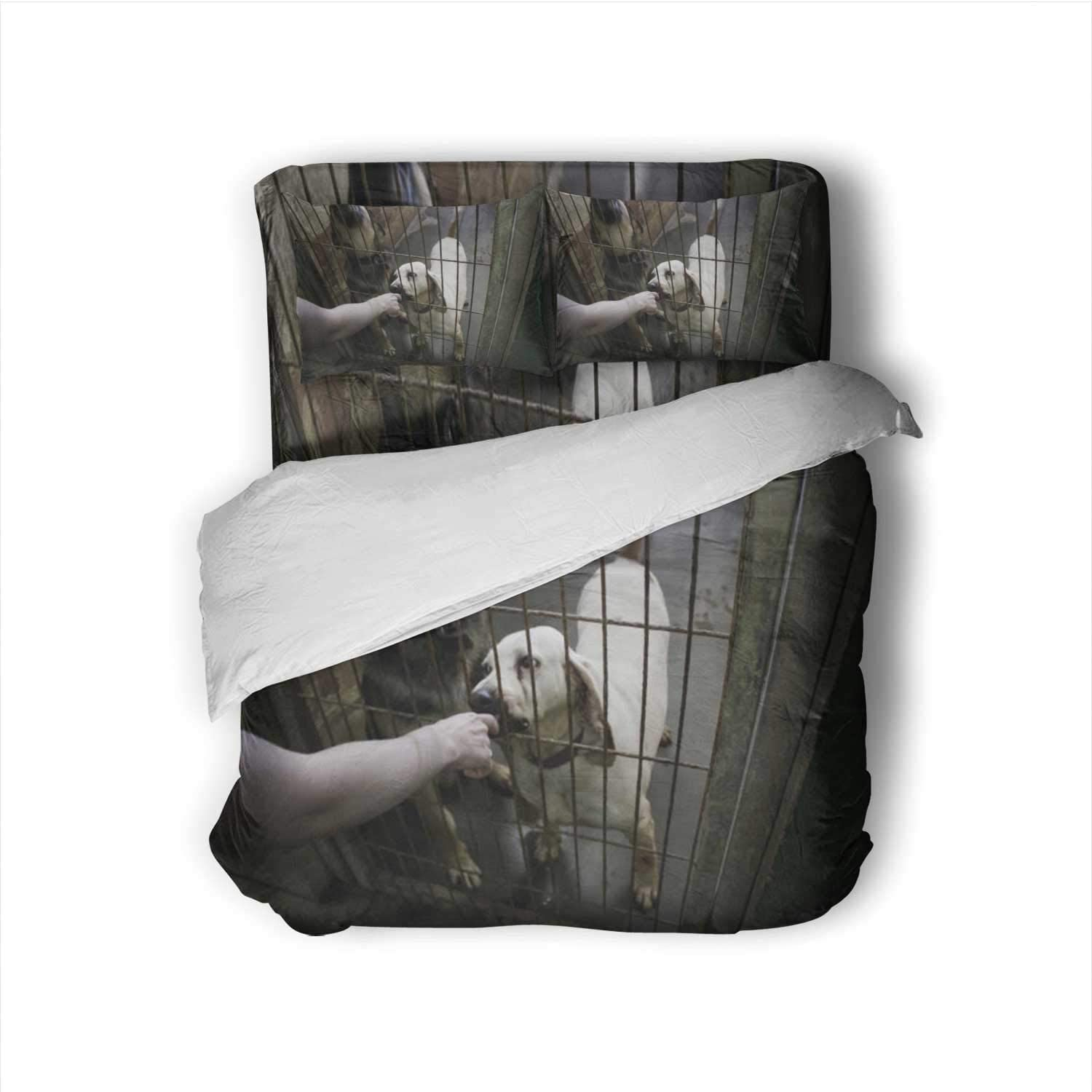 Dog in Kennel Spain,Size Sheets Dog Sheets Size Twin Size
