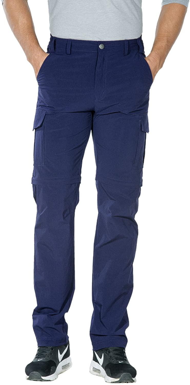 Nonwe Men's Outdoor Water-Resistant Quick Dry Convertible Cargo Pants