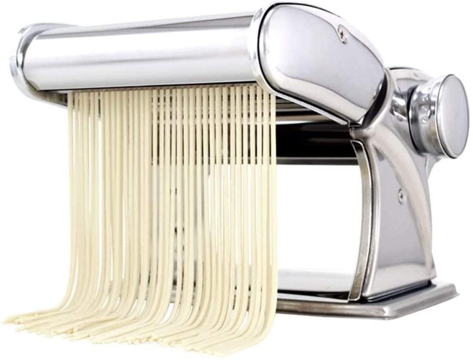 CHENJIU Pasta Machine, Stainless Steel Manual Pasta Maker Machine with Adjustable Thickness Settings, Perfect for Spaghetti, Fettuccini, Lasagna or Dumpling Skins