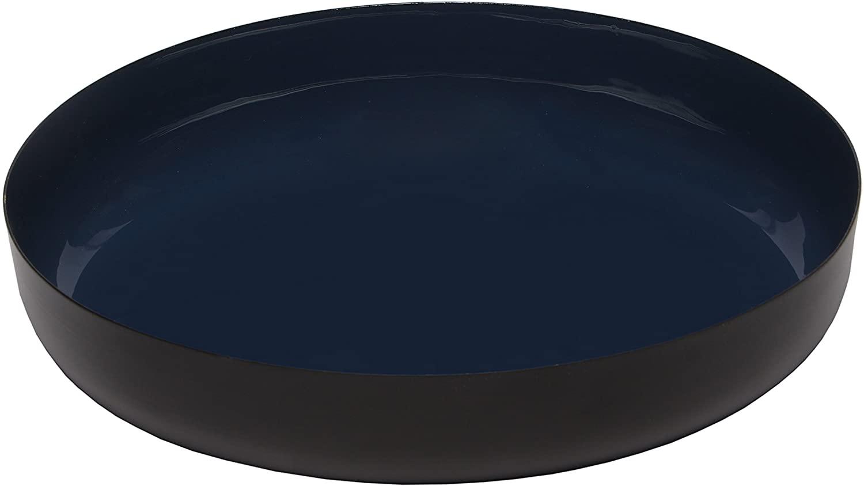 Melange Home Decor Modern Collection, 9-inch Round Platter, Color - Navy