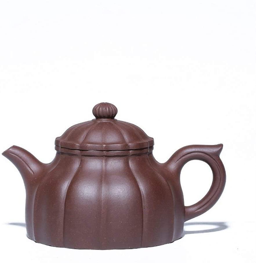 Kungfu Porcelain Lid Teas Teacups Sets Tips Ore Purple Clay Teapot German Clock Maker LEBAO (Color : Red)