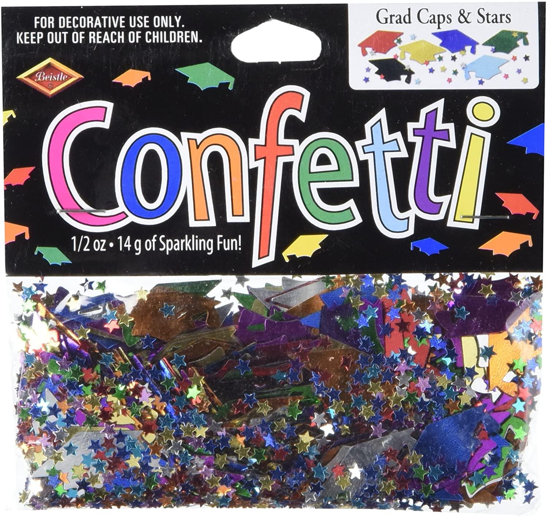 Beistle CN019 Grad Caps and Stars Confetti