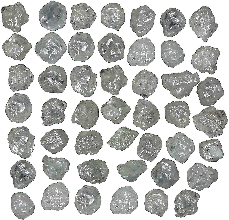 Natural Loose Diamonds Rough Rare Raw Cube Ice Grey Color I3 Clarity 3.00 Ct Lot Q28