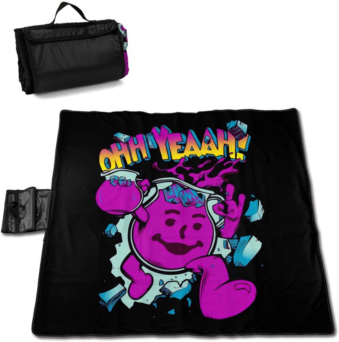 Htu Kool+Aid Portable Printed Picnic Blanket Waterproof 59x57(in)