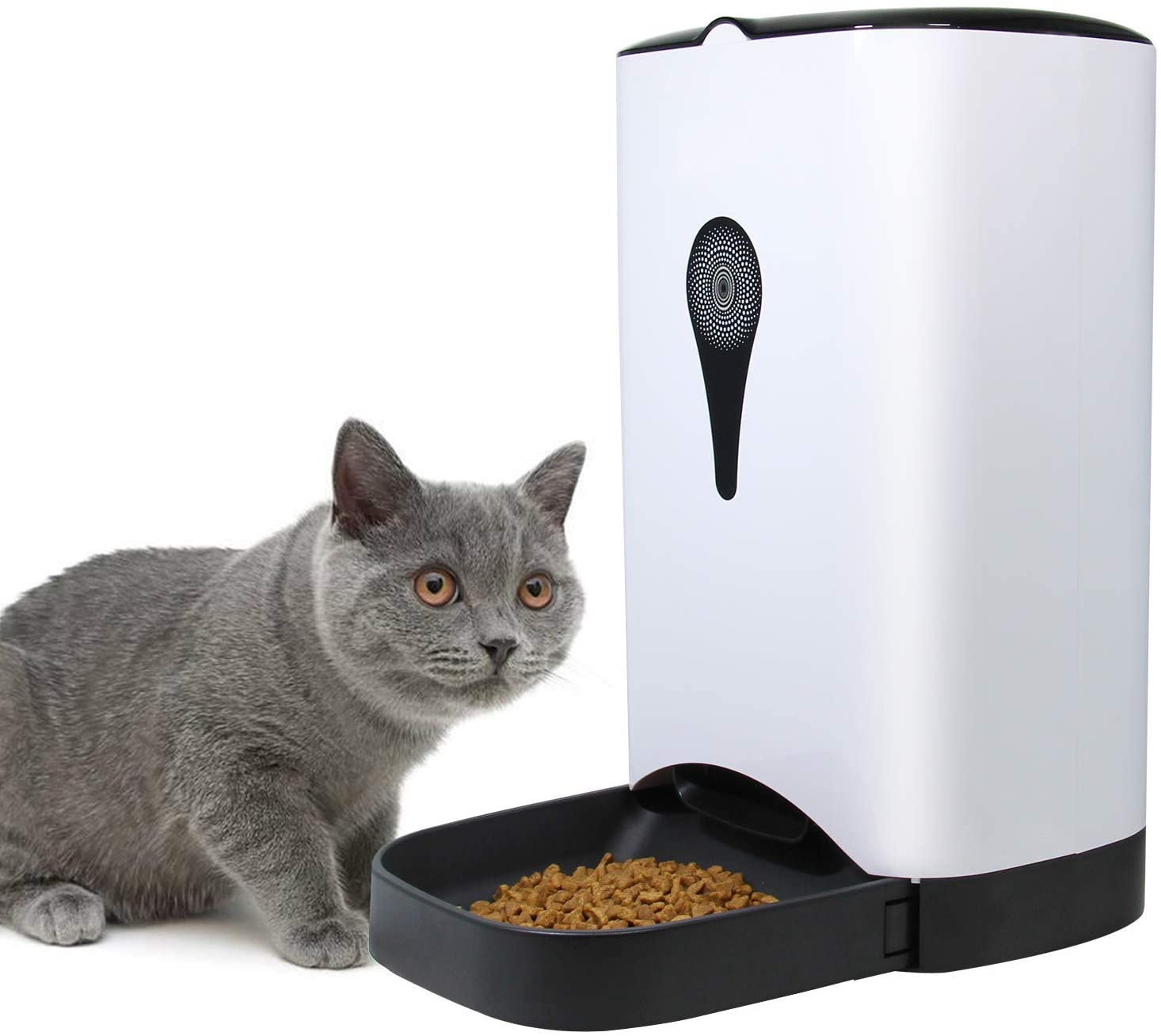 4.5L Automatic Cat Feeder, Smart Dog Food Dispenser, Voice Recording Timer Programmable Up to 4 Meals A Day, LCD Display and Portion Control