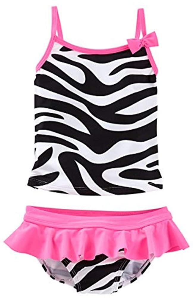 OshKosh B'gosh Baby Girls' 2 Piece Zebra Tankini