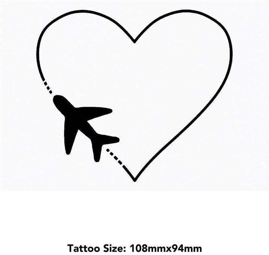 Azeeda Large 'Love Travel' Temporary Tattoo (TO00027588)