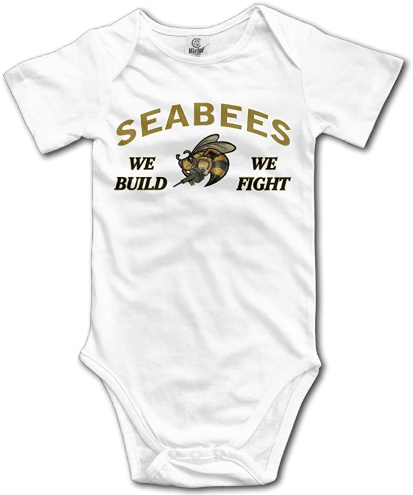 Showyou Navy Seabees Logo Cute Unisex Baby Boy Girl Onesise