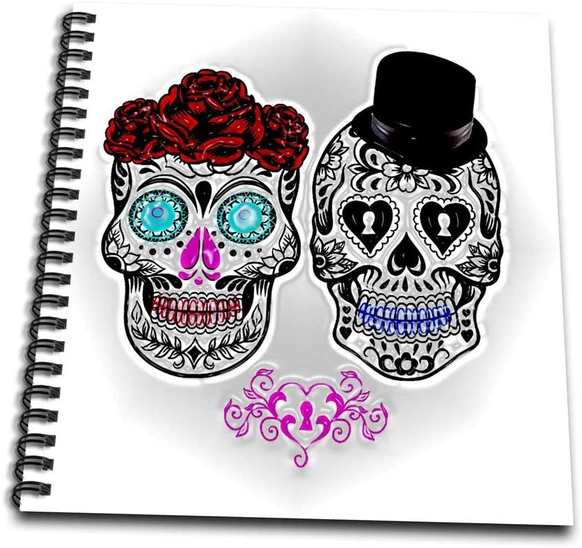 3dRose 3D Rose Day of The Dead. Wedding. - Drawing Book, 8 by 8-inch (db_214626_1) 8