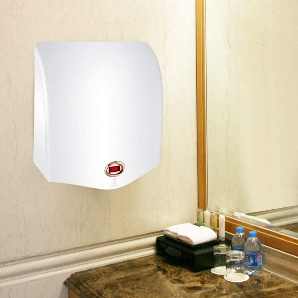 DGPOAD Hand Dryer 1200w Commercial Electric Automatic Sensor Handy Wash Eco Friendly for Bathroom Toilets Washroom Hygiene Warm Wall Mounted Dry Blower