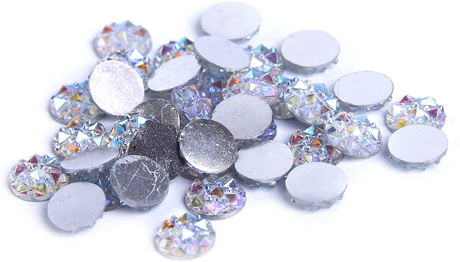 Nizi Jewelry Crystal AB Color Resin Rhinestones Flat Back 8mm 10mm 12mm 14mm Available (12mm 200pcs)