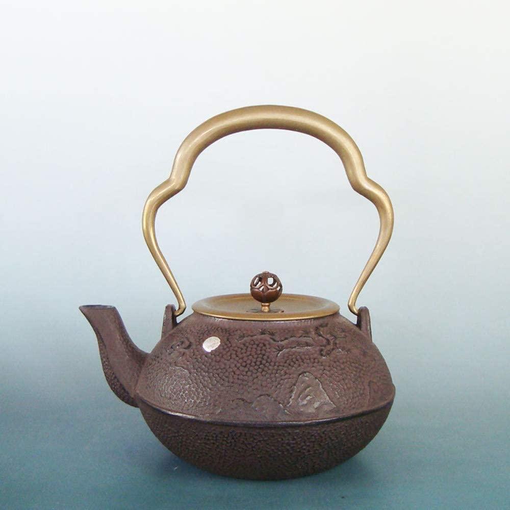 ZXY-NAN Ceramic Cast Iron Iron Songhe Iron Pot Handmade Japanese Old Iron Pot Uncoated Health Health Pot 1.2L