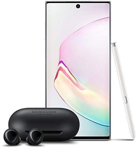 Samsung Galaxy Note 10 Factory Unlocked Cell Phone with 256GB (U.S. Warranty), Aura White/ Note10 w/Galaxy Buds