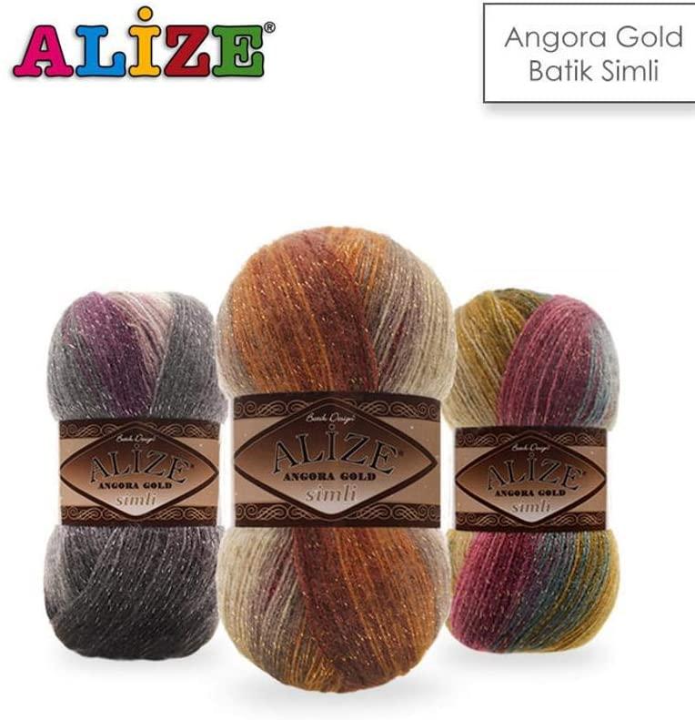 9 skn (9 Balls) Alize Angora Gold Simli Batik, Silvery, Wool Yarn, Acrylic Yarn, Knitting Yarn, Crochet Yarn, Wool Yarn, Sweater Yarn, Turkish Yarn
