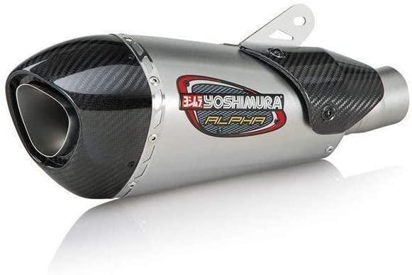 Yoshimura Alpha T Slip-On Exhaust (Street/Stainless Steel/Stainless Steel/Carbon Fiber/Works Finish) for 18 Suzuki GSX250R