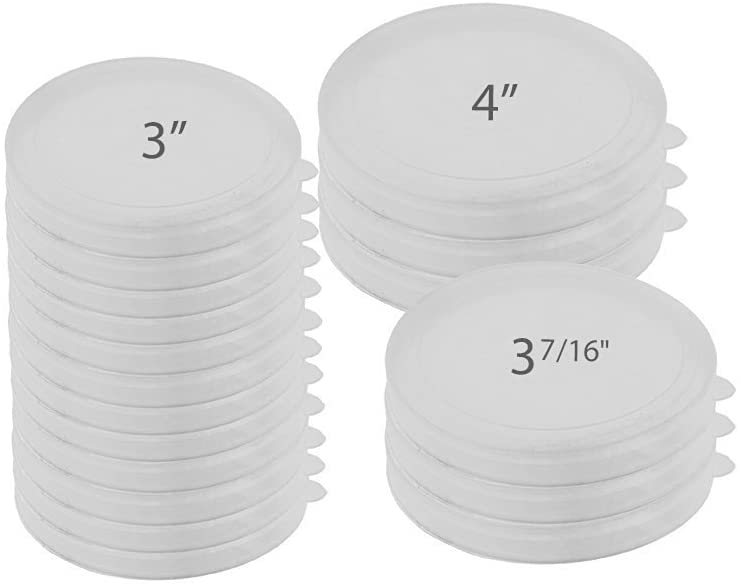 McKay Versatile Tight Seal Plastic Food Storage Can Cover Set, Reusable Kitchen Lids for containers, Jars & Mugs: Ideal for Dog, Cat & Other Pets Canned Goods - Multi Sizes