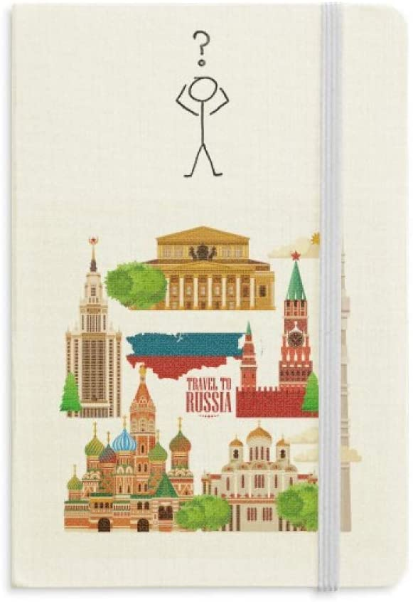 Russia Landmark National Symbol Illustration Question Notebook Classic Journal Diary A5