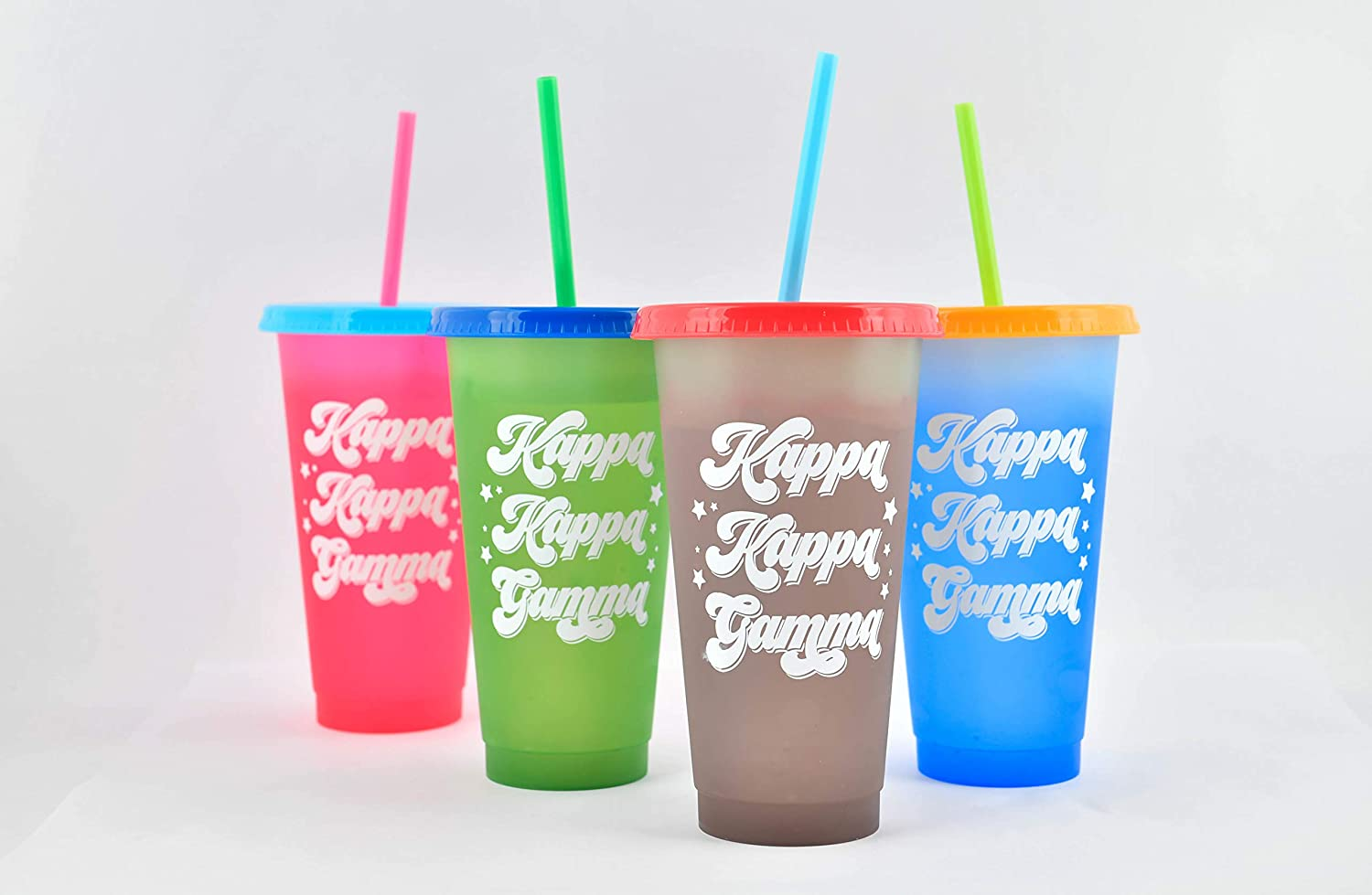 Kappa Kappa Gamma - Color Changing Cups - Retro Style (24 Ounce, 4 per pack)