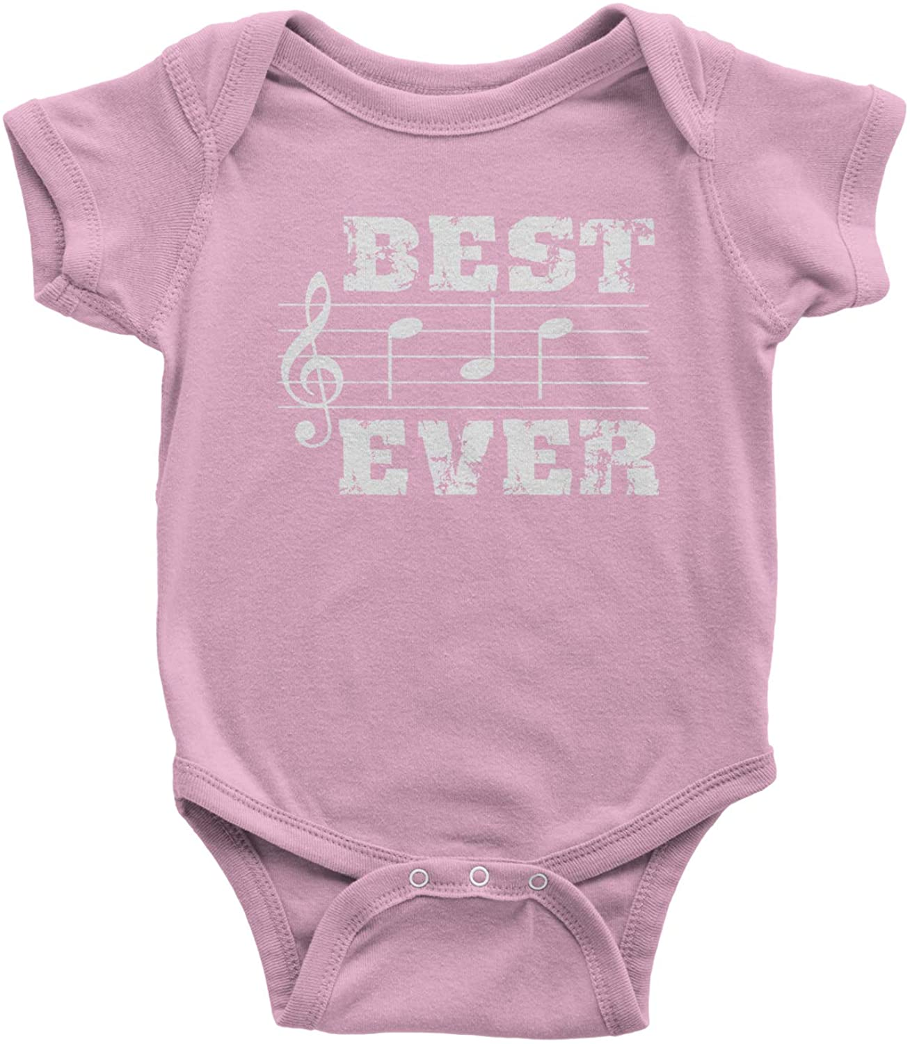 Expression Tees Musical Notes Best Dad Ever Infant One-Piece Romper Bodysuit