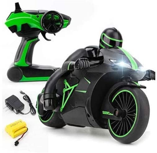 PETRLOY 1:18 Remote Control Car Simulation Model 2.4G 4CH Mini RC High Speed Drift Motorbike Motorcycle Model with Light Kids Robot RC Motorbike Toys Best Birthday Gifts for Adults and Children