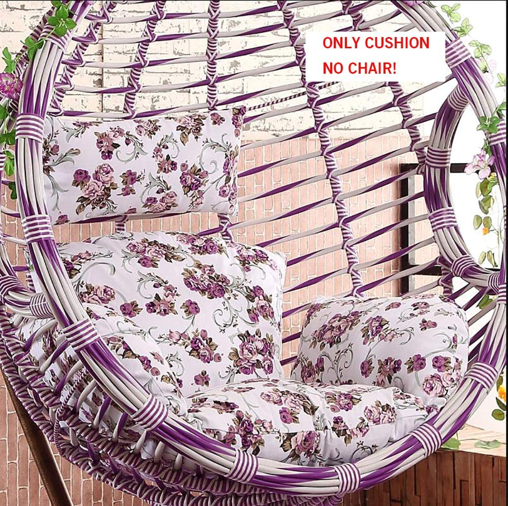 Seat Cushion Hanging Basket Chair Cushion Replacement,Soft Breathable Floral Swing Without Stand Hanging Egg Hammock Chair Cushions-e 58x53x70cm(23x21x28inch)
