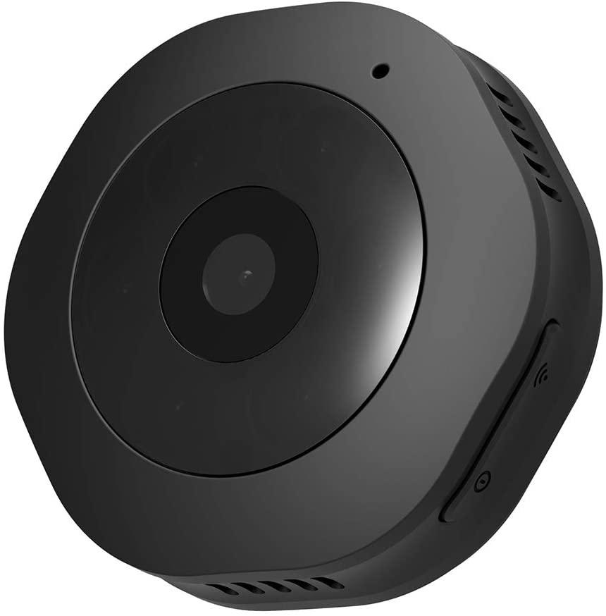 1080p Wireless High-Definition Night Vision Camera Small Surveillance Camera Mobile Phone Wireless WiFi Remote Monitoring,Black