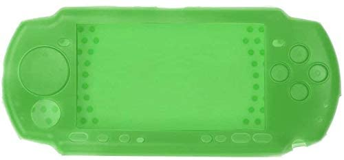 Replacement Rubber Protective Case Cover Silicone Skin for PSP 2000 3000 (Green)