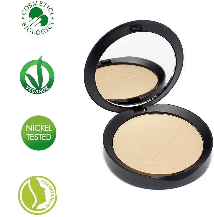 PuroBIO Certified Organic INDISSOLUBILE Face Powder with Anti-Aging & Mattifying Effect, Color 03 Medium. Contains Vitamin E, Rice Powder, Shea Butter, Plant Oils. VEGAN. NICKEL TESTED.MADE IN ITALY