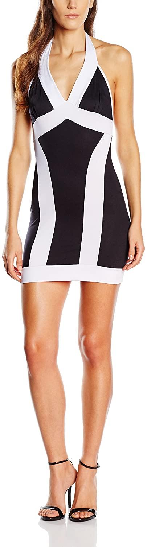 AM PM Women's Striped Silhouette Dress X-Large Black/White