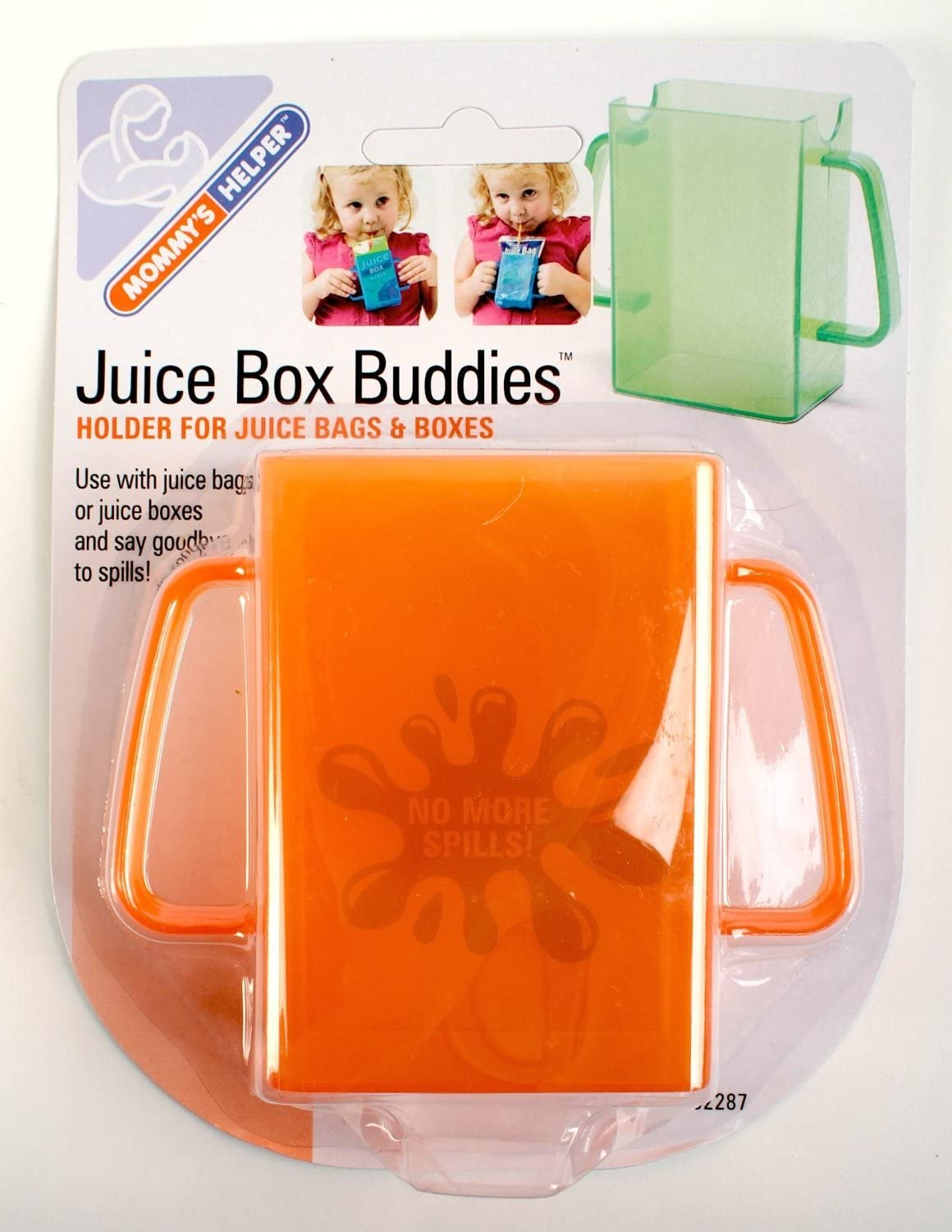 Mommy's Helper - Juice Box Buddies Holder for Juice Bags and Boxes, (Assorted Colors), (10 Pack)