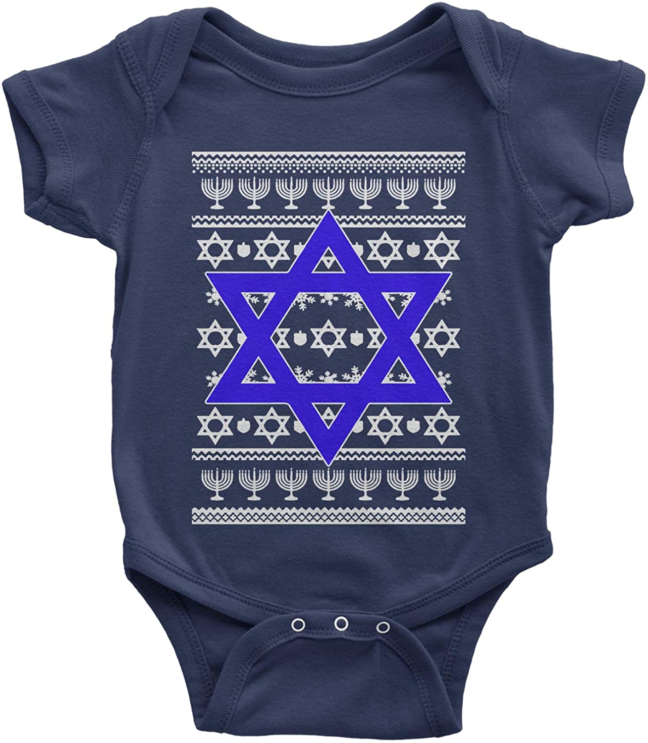 Expression Tees Jewish Star of David Ugly Hanukkha Infant One-Piece Romper Bodysuit