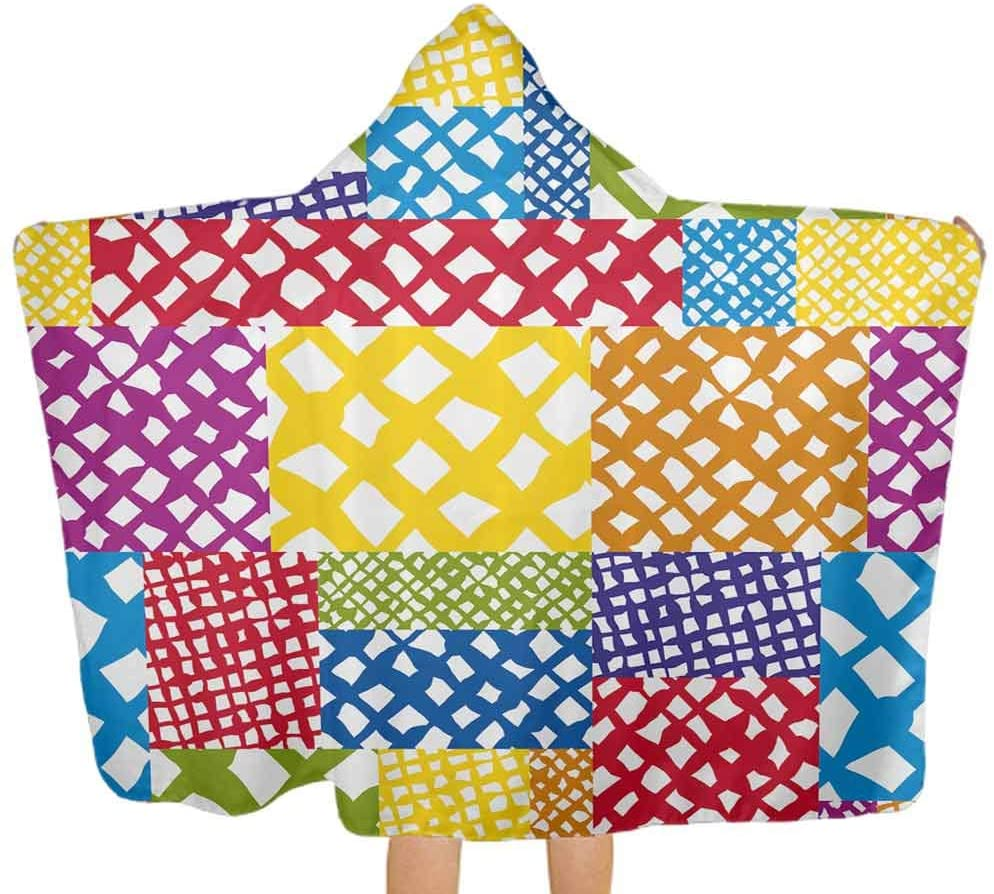 ThinkingPower Hooded Baby Towel Geometric Formless Figures Premium Toddler Towel with Hood Safe, Ultra Soft & Super Absorbent, 51.5x31.8 Inch