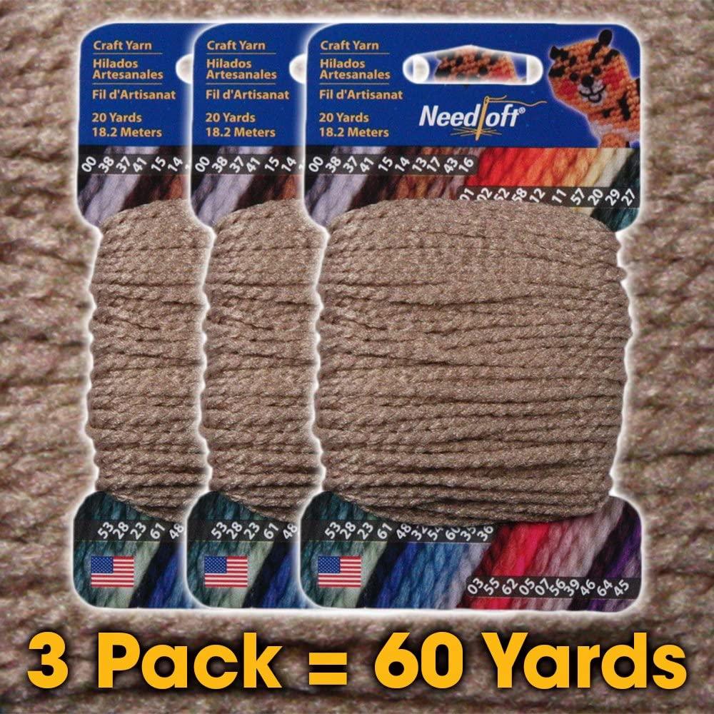 #16 Sandstone - Needloft Craft Yarn 3 Pack 60 Yards (3x20yds)