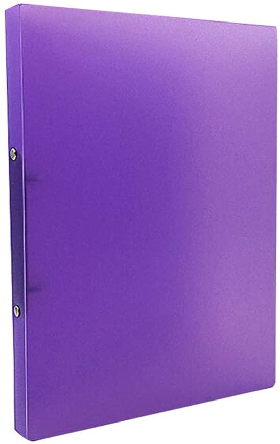 lipiny A4 Clip File Folder Transparent Candy Color Loose Leaf Binder Storage Organizer Office Supply