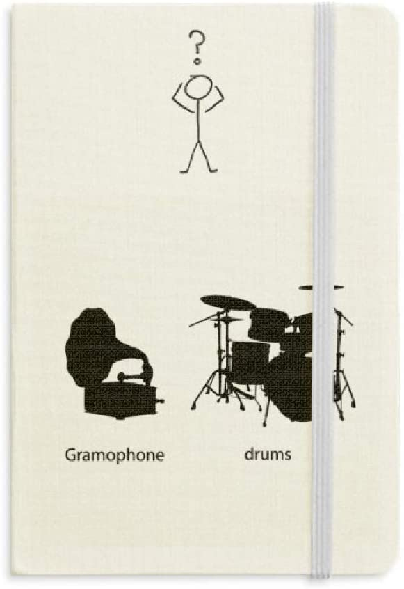 Song Music Drum Kit Energy Pattern Question Notebook Classic Journal Diary A5