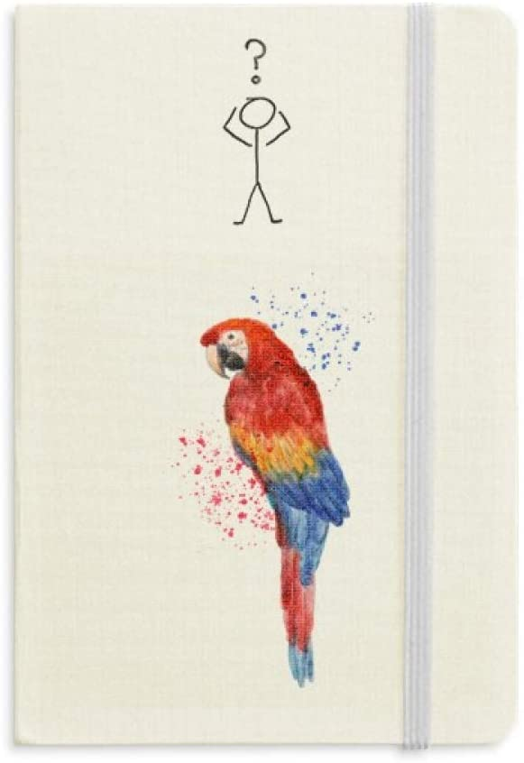 Red Psittaciformes Parrot Bird Question Notebook Classic Journal Diary A5