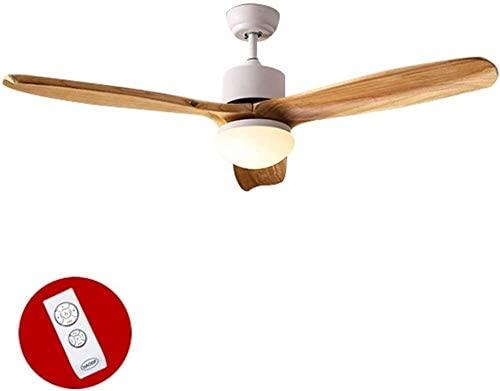 KDLW Living Room Led Solid Wood Fan Light Ceiling, Bedroom Restaurant Ceiling Fan Light, Indoor Lamp Ceiling Lighting (Size : 122 58cm) 0813