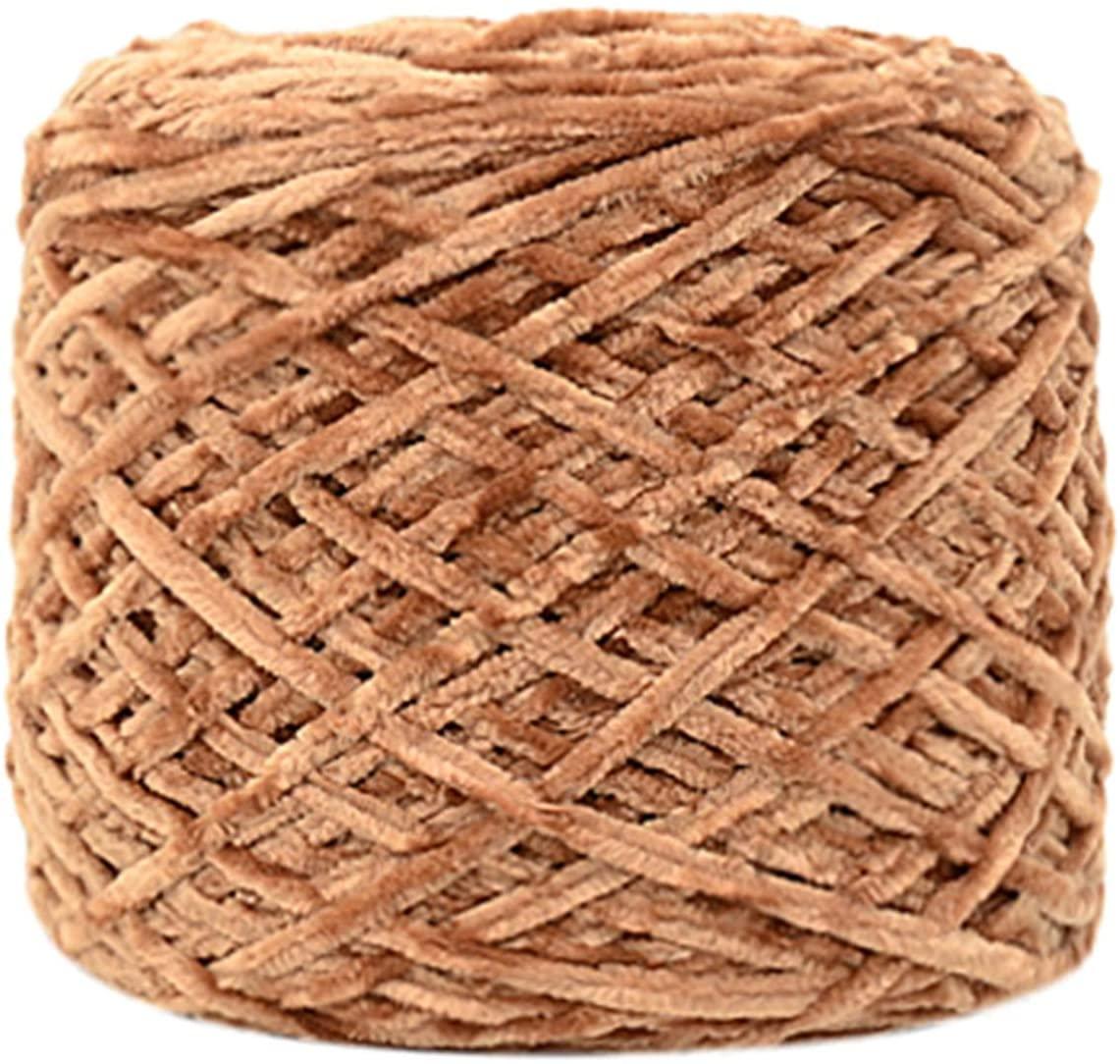 100G Gold Velvet Yarn Roving Scarf Knit Wool Yarn Thickness Warm Hat Household Crochet para Tejer Yarn for Knitting Wool Yarn,G