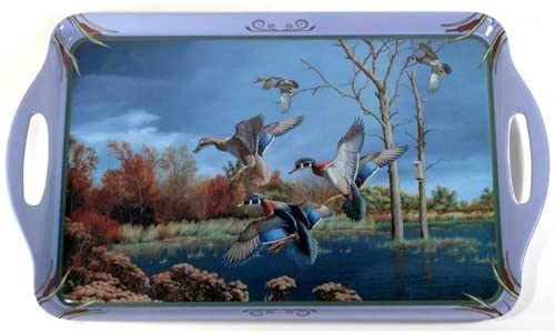 Motorhead Products 11 by 18-Inch Melamine Serving Tray, Featuring Wild Wings Licensed Art with Waterfowl by David Maass