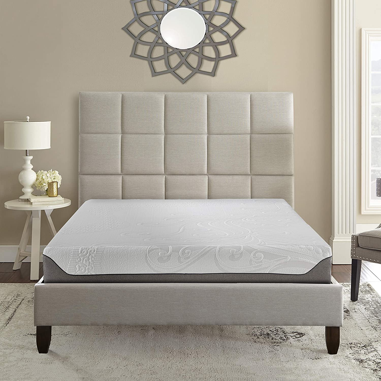 Boyd Sleep Cooling Air Flow Gel Memory Foam Mattress with IceLux Cover, 10 Twin XL