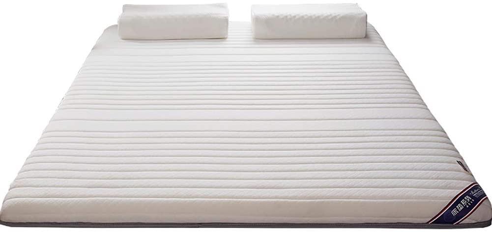 Latex Hybrid Mattress, Super Soft Breathable Tatami Mattress, Memory Foam Bed Mattress for Single Double Rv Bunk Guest Bedroom Kids Room-White 120x190cm(47x75inch)