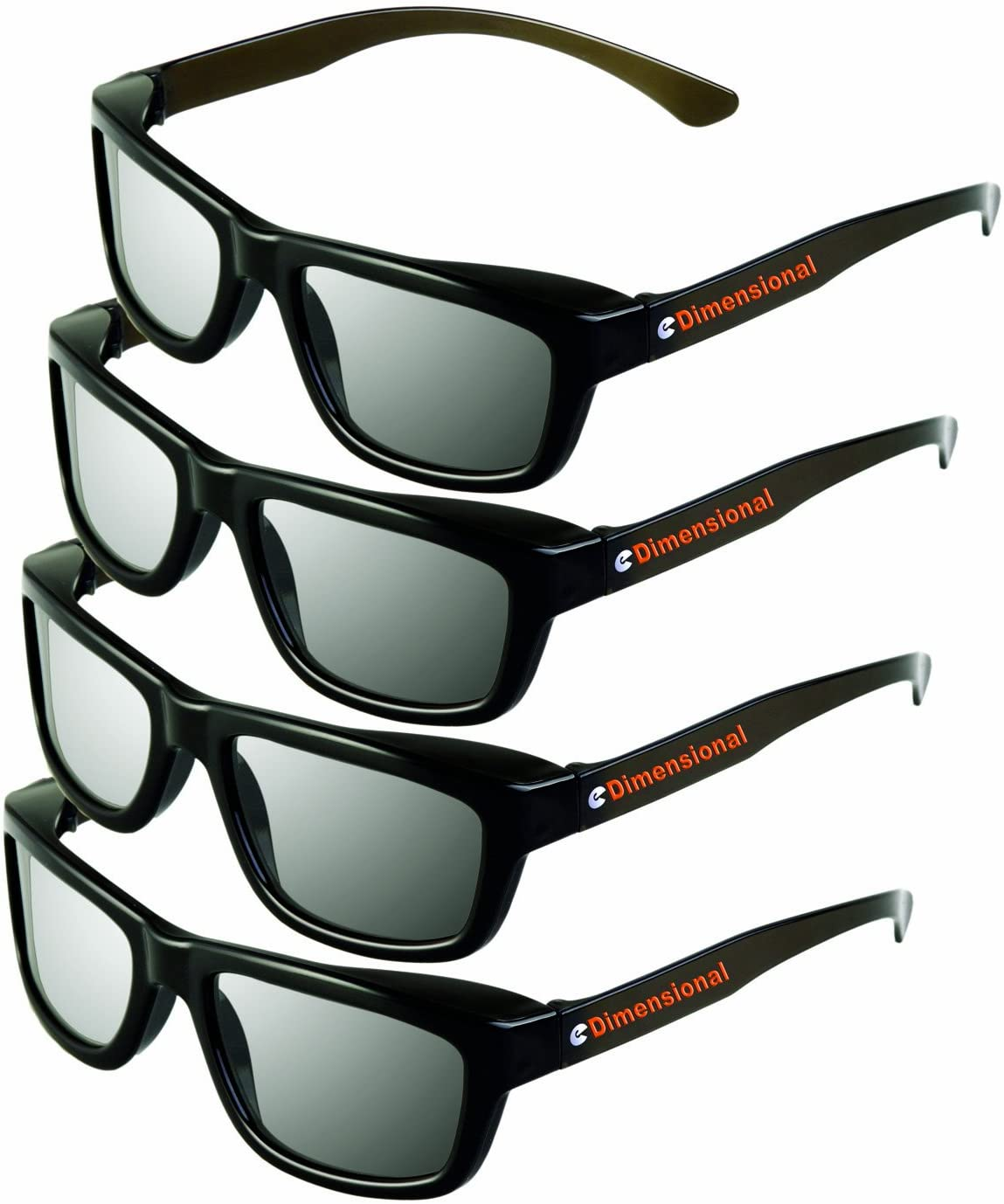 ED DUAL PLAY Adult 4 Pack - LG AG-F310DP + AG-F400DP Cinema 3D Dual Play Compatible Gaming Glasses 4 Adult Glasses