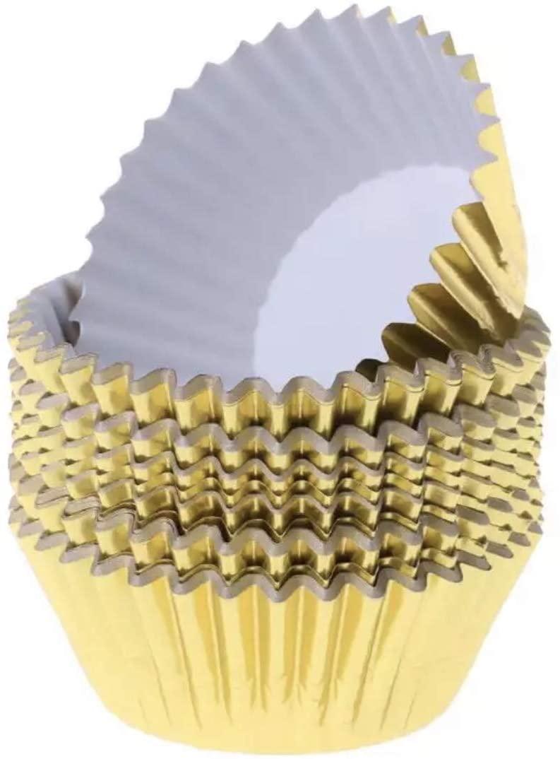 Bakell Metallic Gold Cupcake Liners (25pc, 100pc, 500pc, 2000pc, 5000pc, 10000pc)