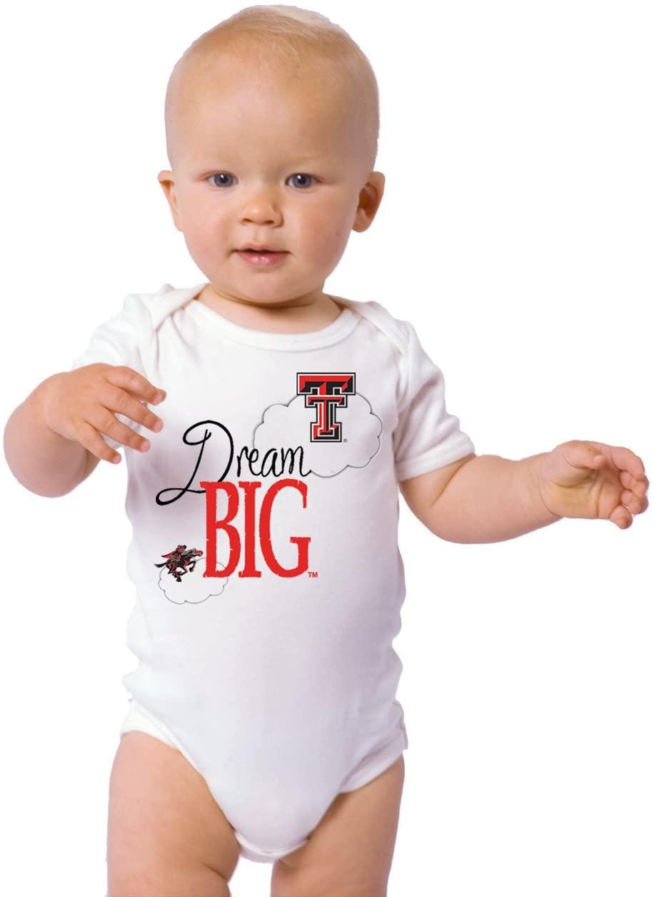 Future Tailgater Texas Tech Red Raiders Dream Big Baby Onesie