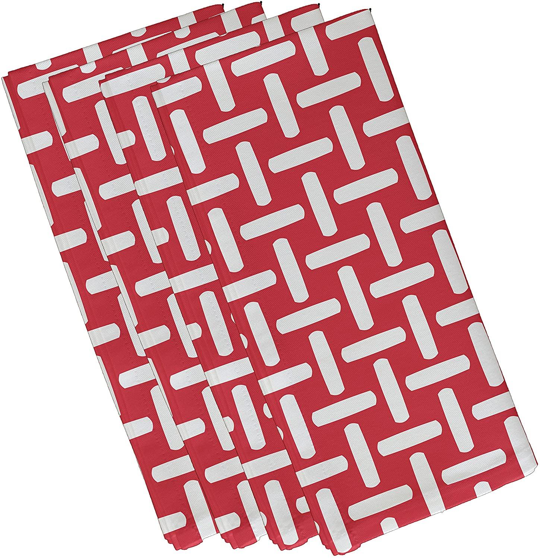 E By Design N4GN47Coral-19 Geometric Decorative Napkin, 19