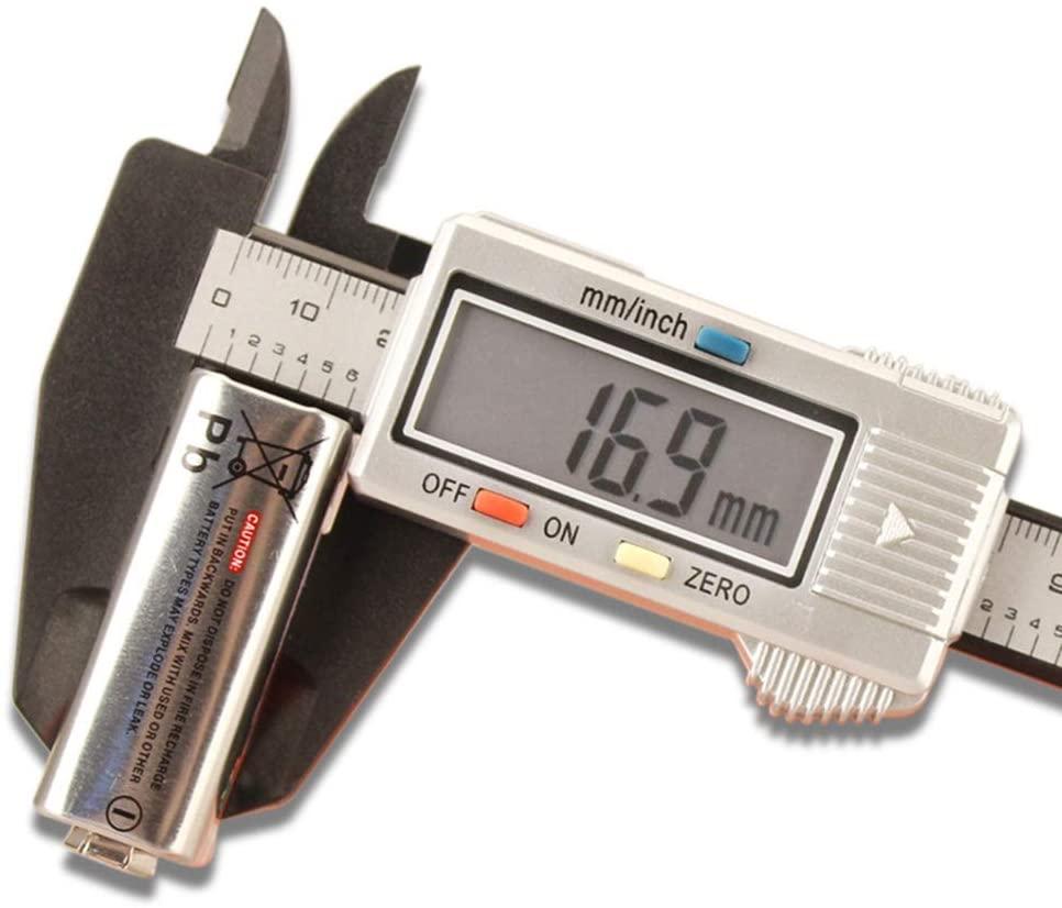 Digital Caliper 0-150Mm Plastic Vernier Inner Diameter Outer Diameter Measuring Tool - Electronic Micrometer with Depth Rod, Inch And Millimeter Conversion