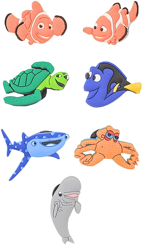CharmTM Set of 7 Fish Shoe Charms PVC Crocs Natives (Generic) Birthday Party Favors