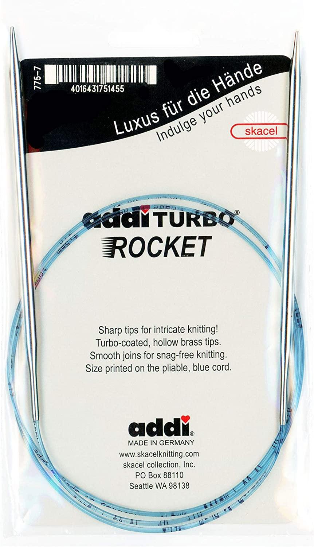 addi Turbo Sock Rockets 40-inch (100cm) Circular Knitting Needle; Size US 000 (1.50 mm) 715-40-000