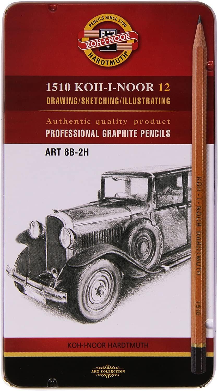 KOH-I-NOOR 8B-2H N Graphite Pencil (Pack of 12)